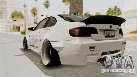 BMW M3 E92 Liberty Walk LB Performance для GTA San Andreas вид слева