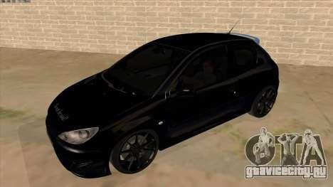 Peugeot 206 MO Edit для GTA San Andreas