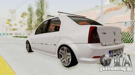 Dacia Logan 2013 для GTA San Andreas вид слева