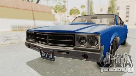 GTA 5 Declasse Sabre GT2 A для GTA San Andreas вид сзади слева