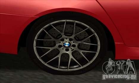 BMW M5 F10 2012 для GTA San Andreas вид сбоку