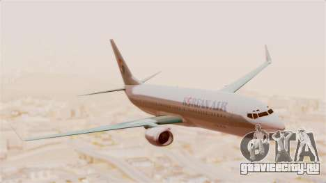 Boeing 737-800 Korean Air для GTA San Andreas вид сзади слева