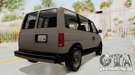 Chevrolet Astro 1988 для GTA San Andreas вид сзади слева