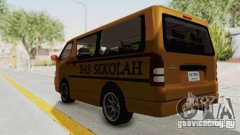 Toyota Hiace School Bus для GTA San Andreas вид сзади слева