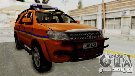 Toyota Fortuner JPJ Orange для GTA San Andreas