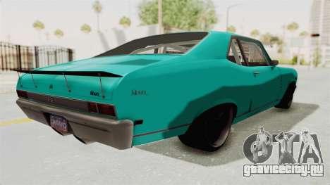Chevy Nova 454 для GTA San Andreas вид сзади слева