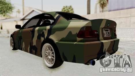 BMW 3 Series E46 для GTA San Andreas вид справа