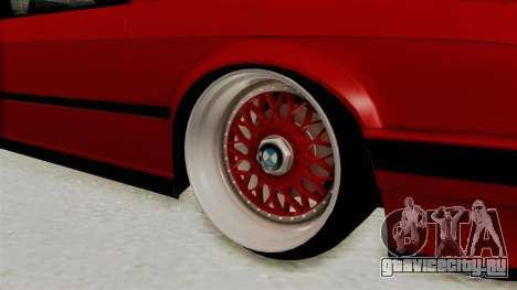 BMW M3 E30 Camber Low для GTA San Andreas вид сзади