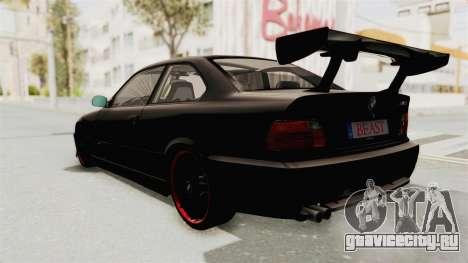 BMW M3 E36 Beast для GTA San Andreas вид справа