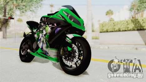 Kawasaki Ninja 250FI Kochiya Sanae Itasha для GTA San Andreas вид справа