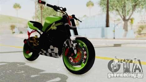 Kawasaki Ninja ZX-9R Stunter для GTA San Andreas вид справа