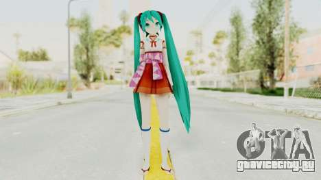 Project Diva F2nd - Hatsune Miku (Shrine Maiden) для GTA San Andreas второй скриншот