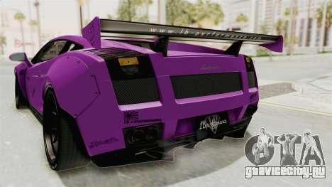 Lamborghini Gallardo 2015 Liberty Walk LB для GTA San Andreas салон