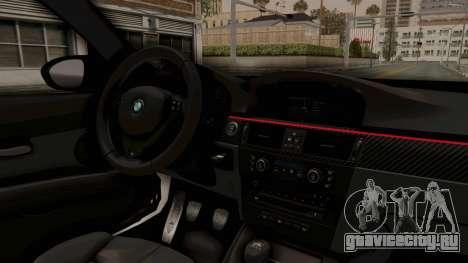 BMW M3 E92 Liberty Walk LB Performance для GTA San Andreas вид изнутри
