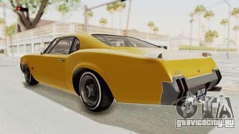 GTA 5 Declasse Sabre GT2 B IVF для GTA San Andreas вид слева