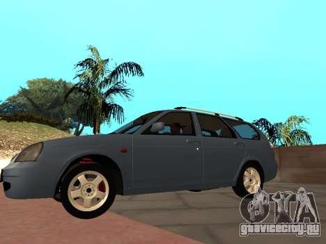 Lada Priora IVF для GTA San Andreas вид сзади слева