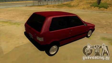 Fiat Uno S для GTA San Andreas вид справа