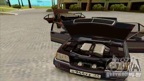 Mercedez-Benz W140 для GTA San Andreas вид сзади слева