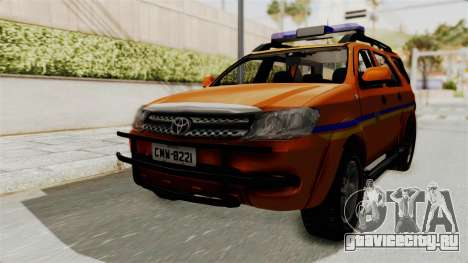 Toyota Fortuner JPJ Orange для GTA San Andreas вид сзади слева