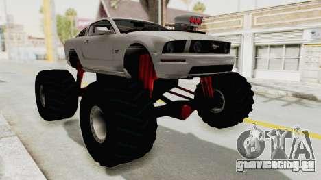 Ford Mustang 2005 Monster Truck для GTA San Andreas вид справа