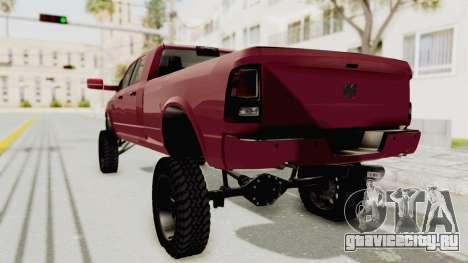 Dodge Ram Megacab Long Bed для GTA San Andreas вид слева