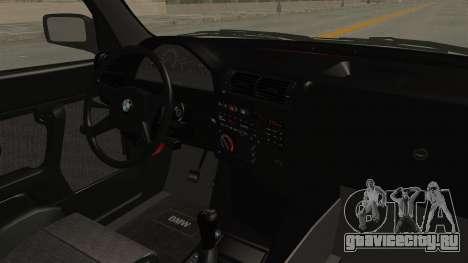 BMW M3 E30 Camber Low для GTA San Andreas вид изнутри