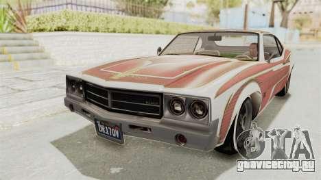GTA 5 Declasse Sabre GT2 A для GTA San Andreas вид снизу