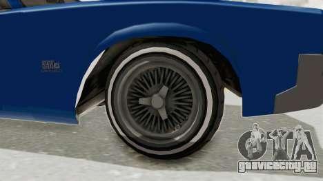 GTA 5 Declasse Sabre GT2 A для GTA San Andreas вид сзади