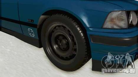 BMW 325i E36 для GTA San Andreas вид сзади