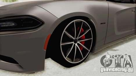 Dodge Charger RT 2015 для GTA San Andreas вид сзади