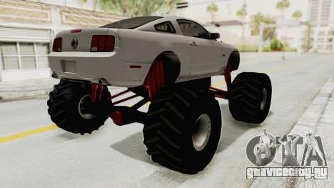 Ford Mustang 2005 Monster Truck для GTA San Andreas вид сзади слева