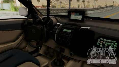 Toyota Fortuner JPJ White для GTA San Andreas вид сзади