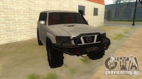 Nissan Patrol Y61 для GTA San Andreas вид сзади