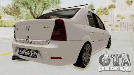 Dacia Logan 2013 для GTA San Andreas вид сзади слева