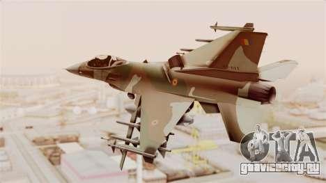 F-16A General Dynamics Chadian Air Force для GTA San Andreas вид справа
