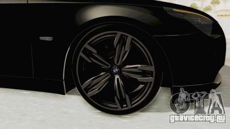 BMW 530D E60 для GTA San Andreas вид сзади