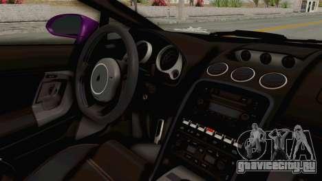 Lamborghini Gallardo 2015 Liberty Walk LB для GTA San Andreas вид изнутри