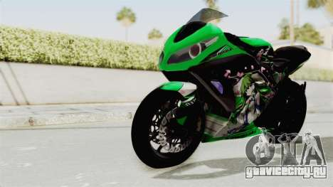 Kawasaki Ninja 250FI Kochiya Sanae Itasha для GTA San Andreas