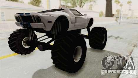 Ford GT 2005 Monster Truck для GTA San Andreas вид сзади слева