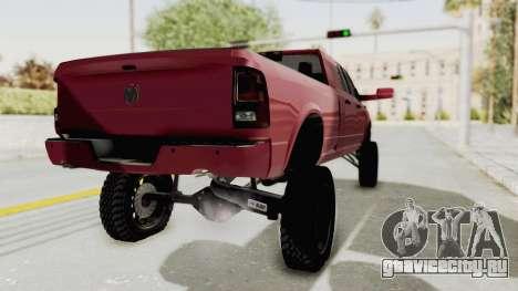Dodge Ram Megacab Long Bed для GTA San Andreas вид сзади слева
