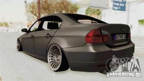 BMW 330i E92 Camber для GTA San Andreas вид сзади слева