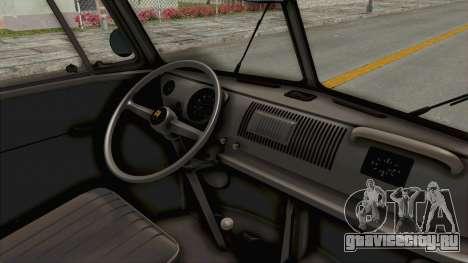 Volkswagen T1 Station Wagon De Luxe Type2 1963 для GTA San Andreas вид изнутри