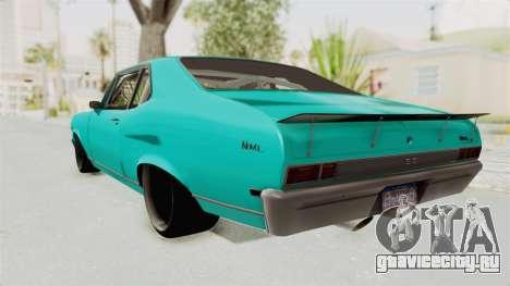 Chevy Nova 454 для GTA San Andreas вид слева