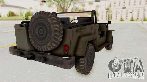 MGSV Jeep No LMG для GTA San Andreas вид слева