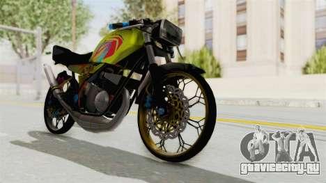 Yamaha RX King 200 CC Killing Ninja для GTA San Andreas вид сзади слева