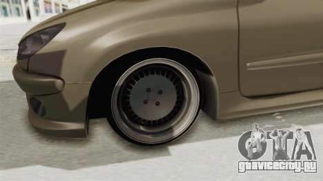 Peugeot 206 для GTA San Andreas вид сзади