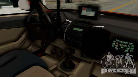 Toyota Fortuner JPJ Orange для GTA San Andreas вид сзади