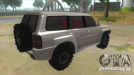 Nissan Patrol Y61 для GTA San Andreas вид справа