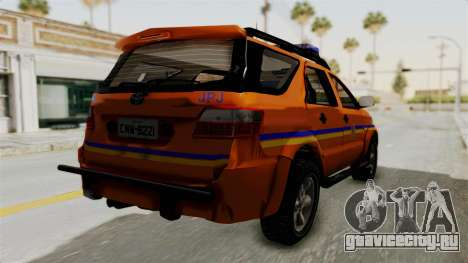 Toyota Fortuner JPJ Orange для GTA San Andreas вид справа