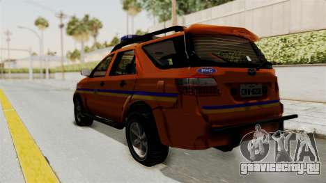 Toyota Fortuner JPJ Orange для GTA San Andreas вид слева
